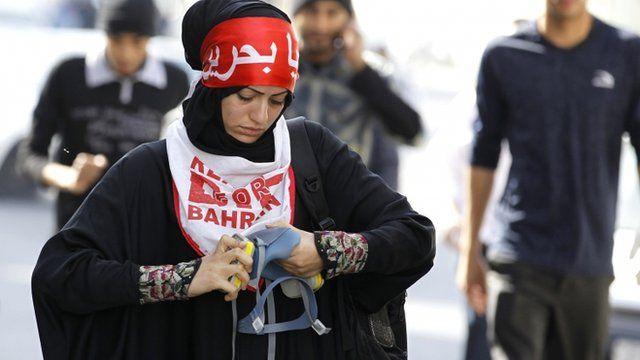 Anti-government protester
