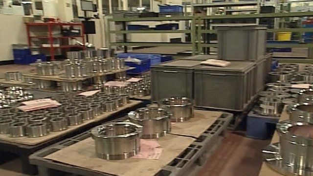 Bearings in a Lincoln factory