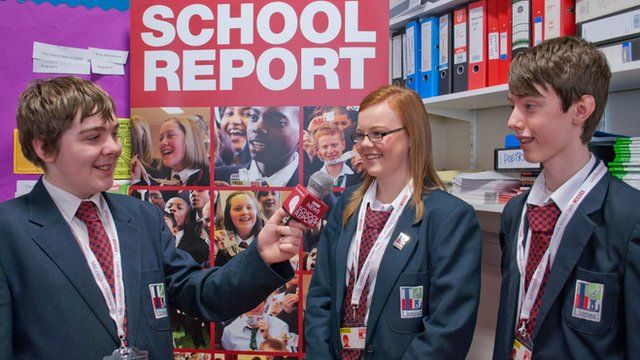 School Reporters using their interviewing skills