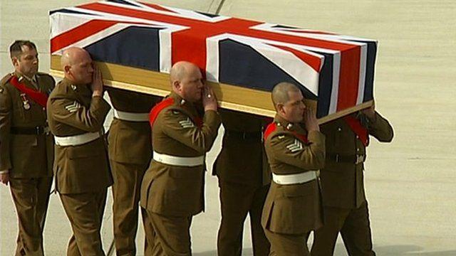 Repatriation at RAF Brize Norton