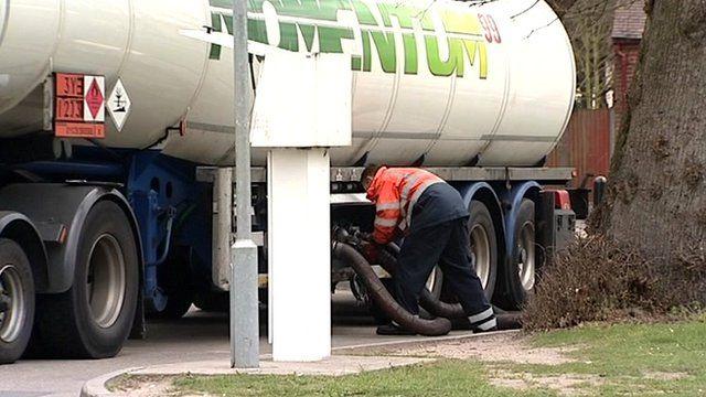 Fuel tanker driver refuelling
