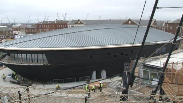 The Mary Rose at the historic dockyard in Portsmouth