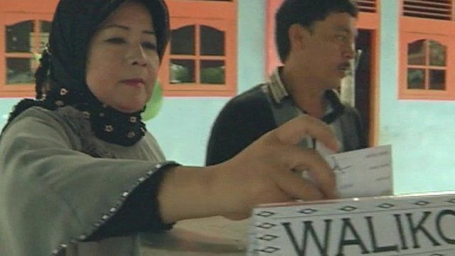 Voters in the Indonesian province of Aceh