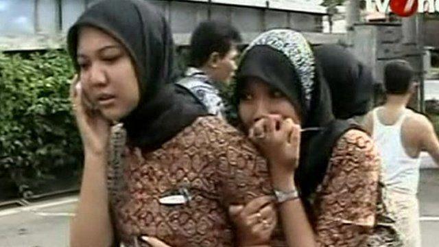 Girls looking worried