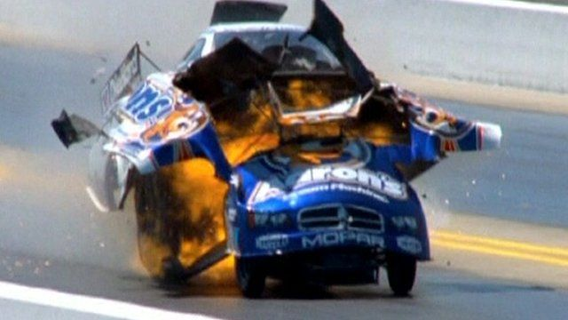 Car explodes