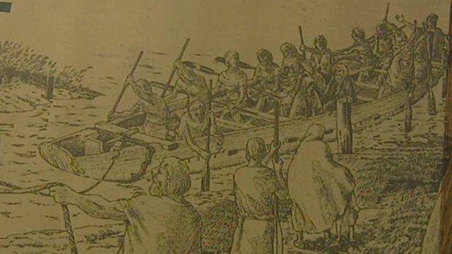 Illustration of Bronze Age boat
