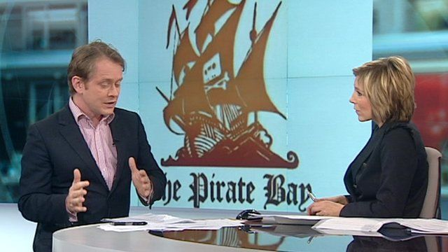 Pirate Bay chat on set
