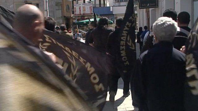 Golden Dawn Party activists