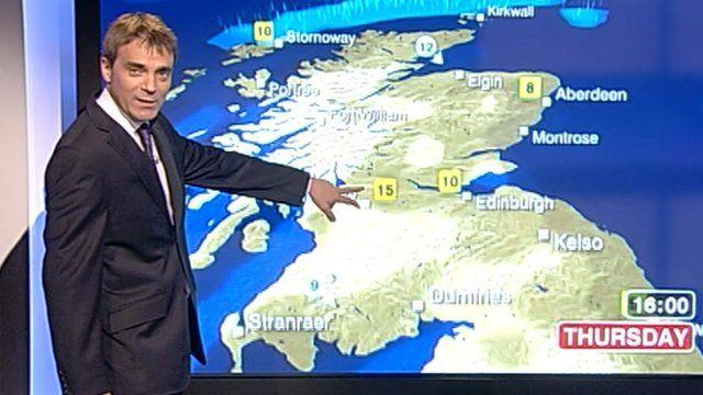 John Hammond and weather map