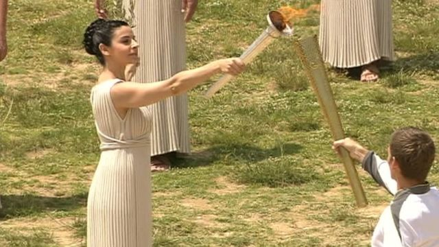 Lighting of London Olympic flame