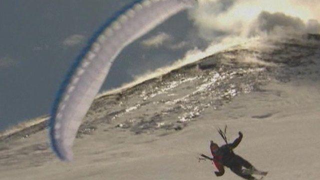Speed flying on Mount Etna