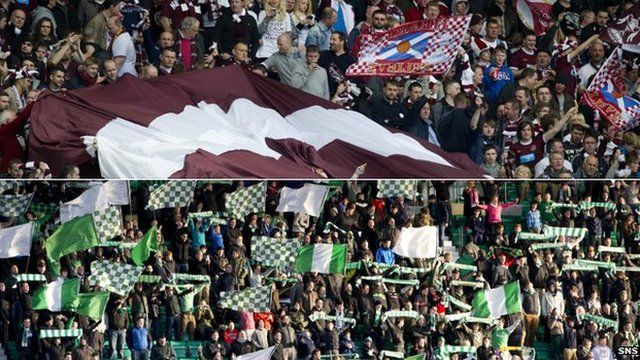 Hearts and Hibs fans