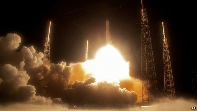 Falcon rocket launch