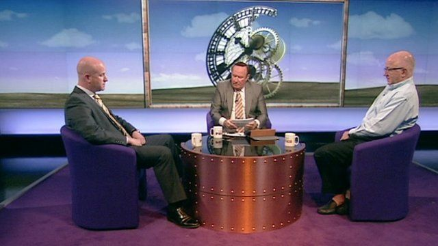 Paul Nuttall, Andrew Neil and Denis MacShane