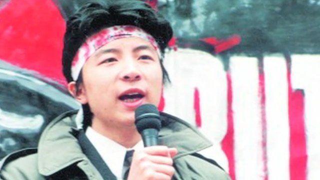 Shen Tong as a young protester