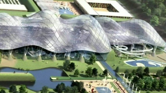 Artist's impression of the Nirah aquarium project