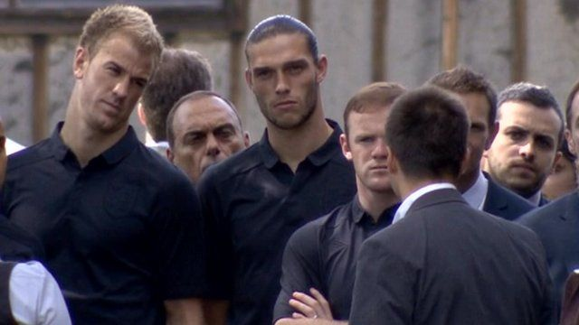 Members of the England team