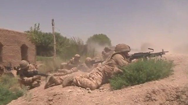 Soldiers in combat