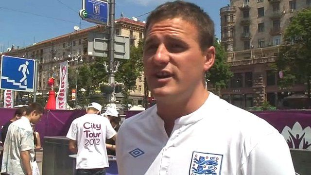 English fan at Euro 2012