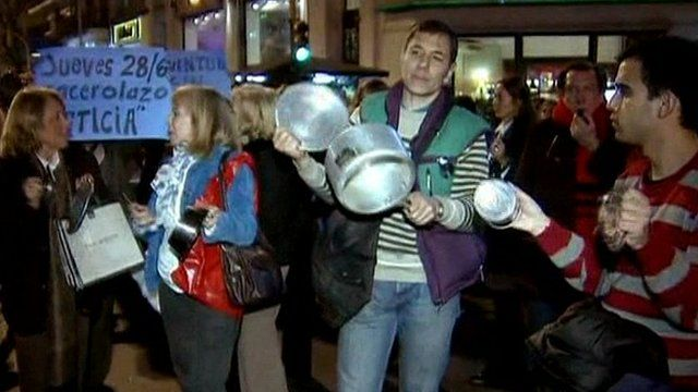Argentine protesters
