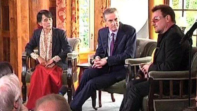 Aung San Suu Kyi and Bono