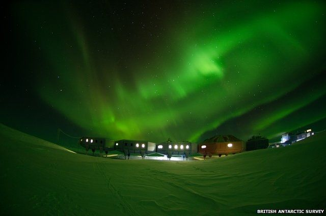 The Halley Research Station in Antarctica