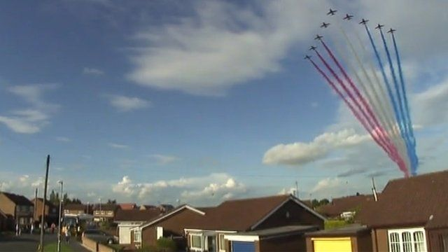 Red Arrows in Lincolnshire