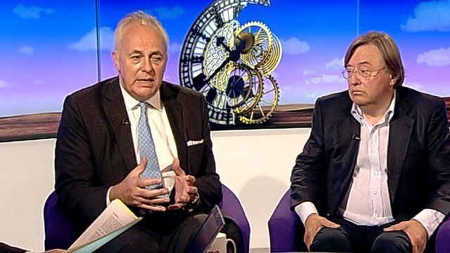 Mark Malloch-Brown and David Mellor