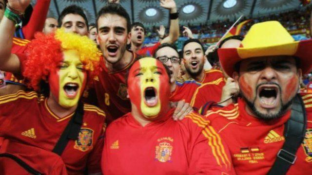 Spain fans