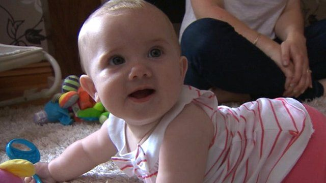 Katie Lodge who had Whooping cough at just ten weeks old