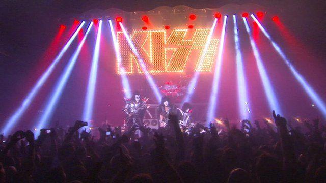 Kiss play London concert