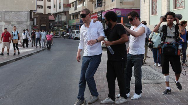 Blindfolded on the streets of Dubai