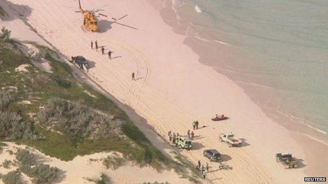 Beach where shark attack happened in Australia