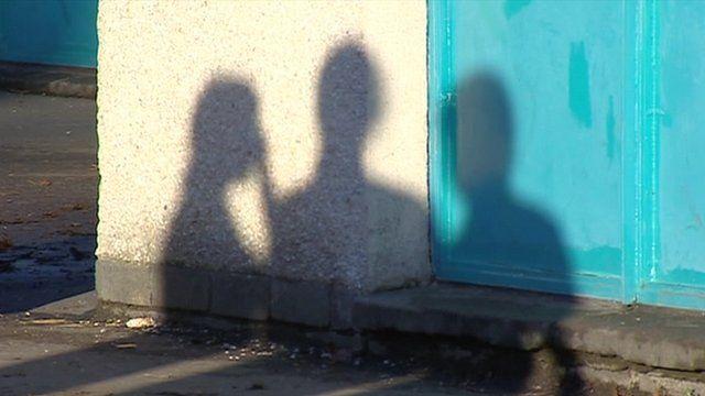 Children in silhouette
