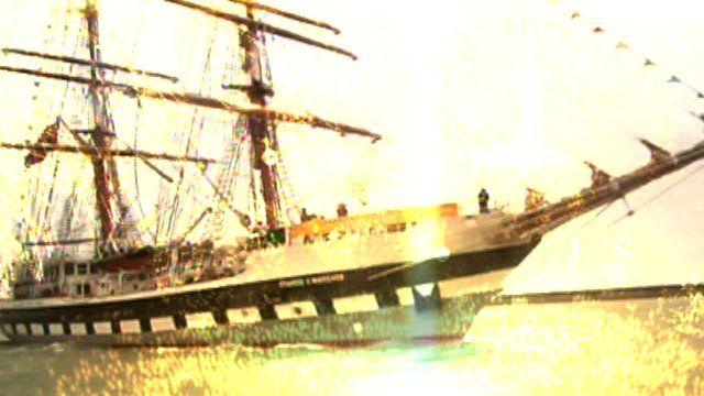 Tall ship at Dover