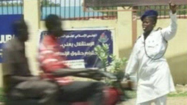 A traffic warden in Juba