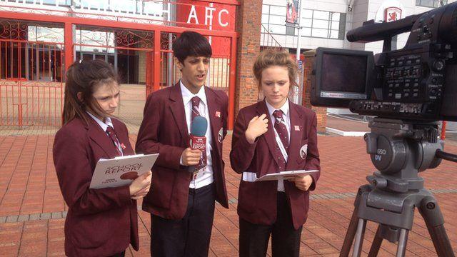 School Reporters from Macmillan Academy