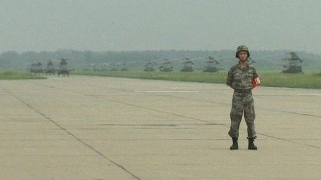 A rare display of China's military might
