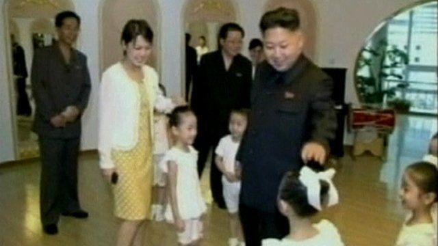Kim Jong-un and wife Ri Sol-ju