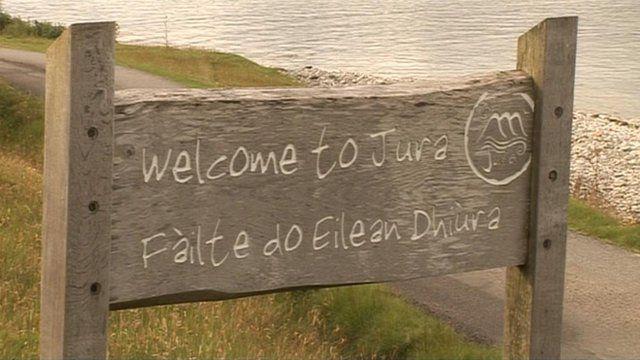 Signpost for Isle of Jura