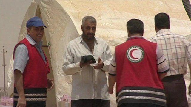 Jordan refugee camp