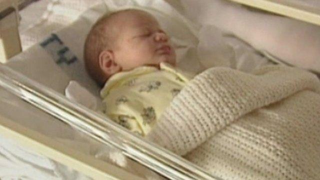 Newly born baby.