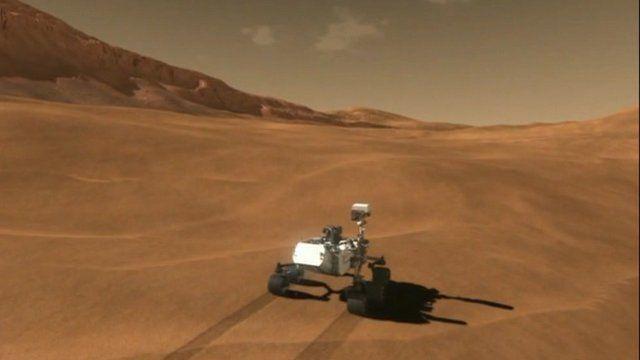 Curiosity rover animation