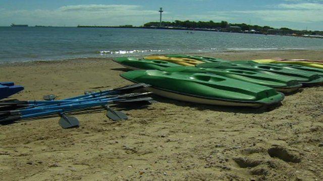 empty boats on the beach