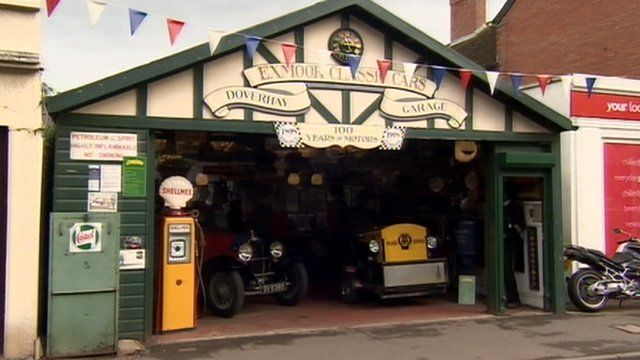 The entire contents of the Exmoor Classic Car museum in Somerset is up for sale