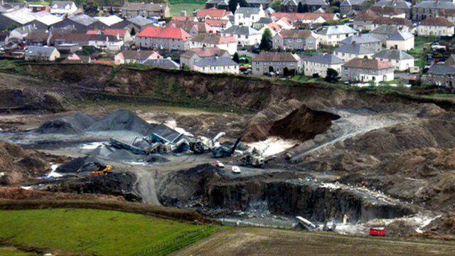 A quarry next door to housing