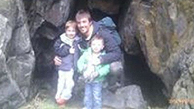 Ewen Fraser Beaton with his children Jamie and Ewen