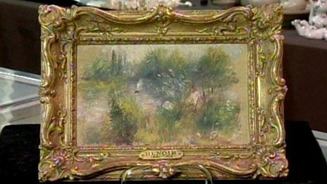 What is believed to be an original painting of Pierre-Auguste Renoir