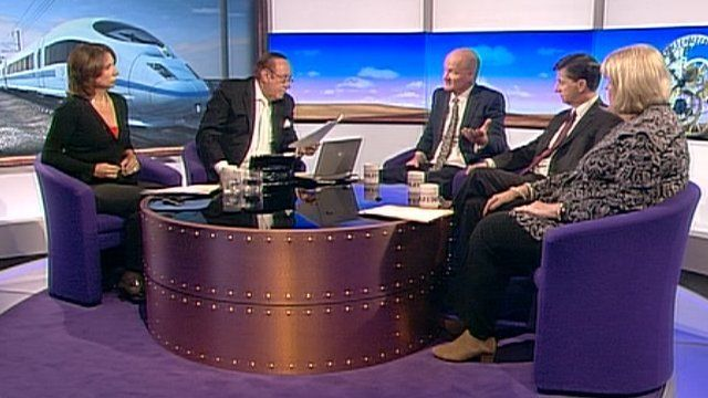 Daily Politics panel debating HS2