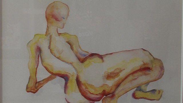 One of Amber-Lauren Ballantyne-Styles' paintings
